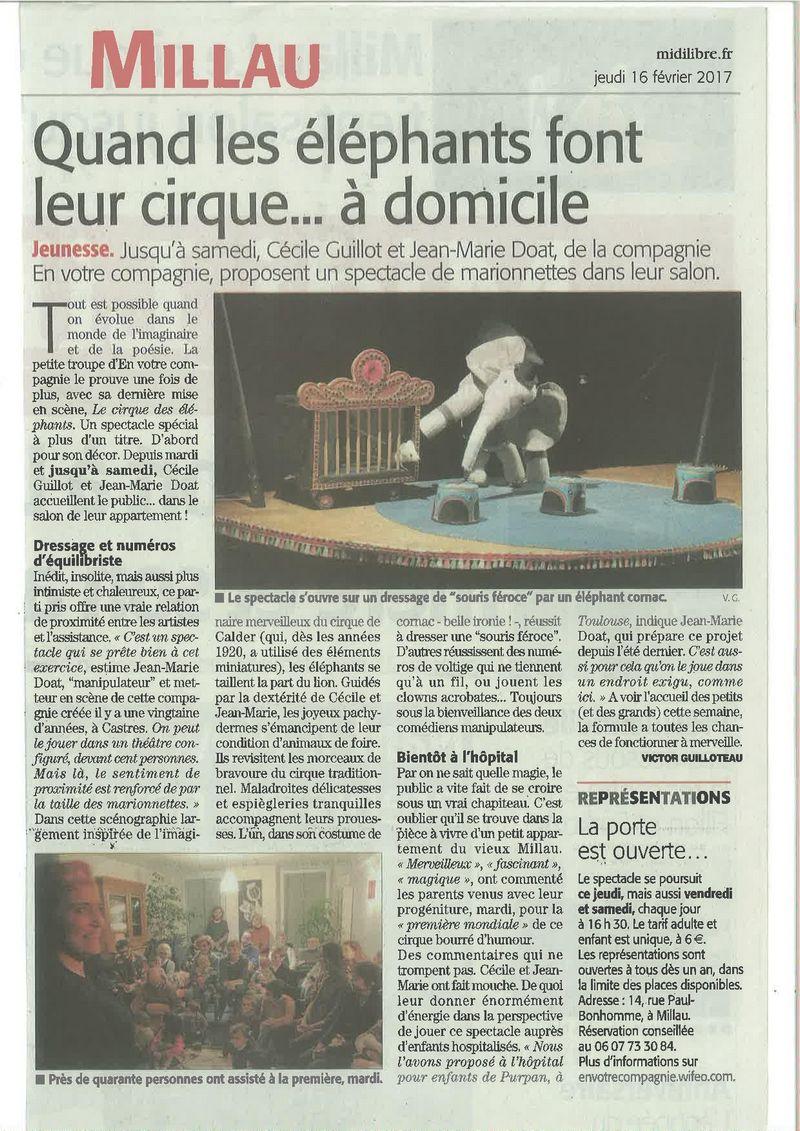 article midi libre cirque des éléphants